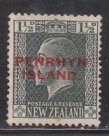 PENRHYN ISLANDS Scott # 18 Mint NO GUM - NZ Stamp Overprinted - Penrhyn