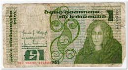 IRELAND,1 POUND,1984,P.70c,CURCULATED - Ierland