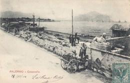 PALERMO-COLONNELLA-BELLA ANIMAZIONE-CARTOLINA VIAGGIATA IL 28-10-1902 - Palermo