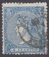 ESPAÑA - SPAGNA - SPAIN - ESPAGNE - 1866 -  Yvert 80 Usato. - Oblitérés