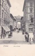 FIRENZE. LA VIA STROZZI. PAUL TRABERT. CPA CIRCA 1900s - BLEUP - Firenze (Florence)