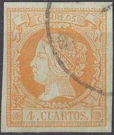 ESPAÑA - SPAGNA - SPAIN - ESPAGNE - 1860 -  Yvert 48 Usato. - Oblitérés