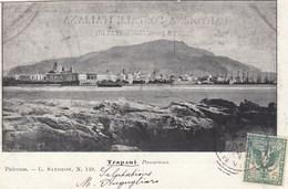 TRAPANI-PANORAMA-CARTOLINA VIAGGIATA IL 24-5-1902 - Trapani