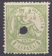 ESPAÑA - SPAGNA - SPAIN - ESPAGNE - 1874- Lotto Formato Da 2 Valori: Yvert 145 E 148 Senza Gomma, Perforati, Con Lingu - 1873-74 Reggenza
