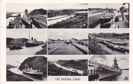 THE PANAMA CANAL. FOTO FLATAU. MULTI VUE. CIRCULEE 1949 A BUENOS AIRES, BANDELETA PARLANTE - BLEUP - Panamá
