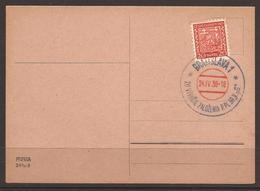 CZECHOSLOVAKIA. MILITARY. 1938. CARD. 20 YEARS 39 P.PL. REGIMENT. RED & BLUE CANCEL - BRATISLAVA. - Cecoslovacchia