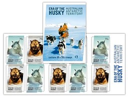AUSTRALIAN ANTARCTIC TERRITORY (AAT) • 2014 • Era Of The Husky - Booklet • MNH (4) - Nuovi