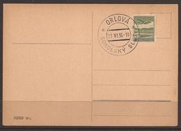 CZECHOSLOVAKIA. 1936. CARD. GAMES-RALLY. ORLOVA SOKOLSKY SLET CANCEL. - Cecoslovacchia