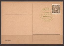 CZECHOSLOVAKIA. 1937. CARD. MILITARY. 20 YEARS 10th INFANTRY REGIMENT GREEN CANCEL-BRNO. - Czechoslovakia