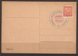 CZECHOSLOVAKIA. 1937. CARD. AVIATION. BLUE & VIOLET CANCEL-PARDUBICE. J. KASPARA-PILOT. - Cecoslovacchia