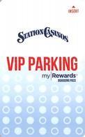 Station Casinos Las Vegas, NV - VIP Parking Card - Copyright 2018 - Exp 12/31/18 - Casino Cards