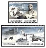 AUSTRALIAN ANTARCTIC TERRITORY (AAT) • 2013 • Centenary Australian Antarctic Expedition • MNH (5) - Territorio Antártico Australiano (AAT)