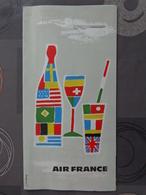 AIR FRANCE DEPLIANT TARIF BOISSONS PARFUMS CIGARETTES + AUTRE - Publicités