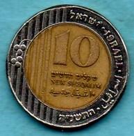 ISRAEL 10 NEW SHEQALIM 1995 Bimétal KM#270 - Israel