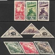 Tannu Tuva   1936   Sc#C10-8  Set Of 9 Airmail Set Used  2016 Scott Value $26.25 - Tuva