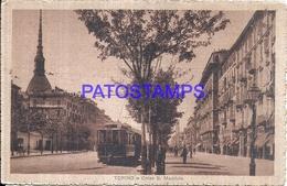 111644 ITALY TORINO TURIN PIAMONTE STREET S. MAURIZIO TRAMWAY POSTAL POSTCARD - Italie