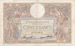 France - Billet De 100 Francs Type Luc-Olivier Merson - 17 Juin 1937 - 1871-1952 Antiguos Francos Circulantes En El XX Siglo