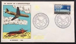 D340 XXIV Salon De L'Aéronautique Le Bourget Exposition Philatélique S A.26/5/1961 1283 Aéroport De Paris Orly - Postmark Collection (Covers)