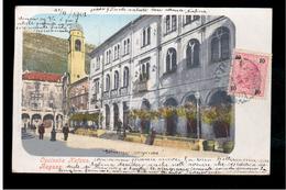 CROATIA Dubrovnik Ragusa  Opcinska Kafana 1902 OLD POSTCARD - Croacia