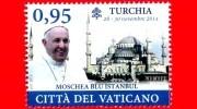 Nuovo - MNH - VATICANO - 2015 - Viaggi Del Papa Francesco Nel 2014 - Turchia - Moschea Blu Di Istanbul - 0.95 - Nuevos