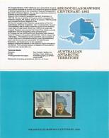 AUSTRALIAN ANTARCTIC TERRITORY (AAT) • 1982 • Birth Centenary Of Sir Douglas Mawson • Pack - Australian Antarctic Territory (AAT)