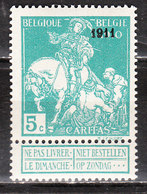 97**  Caritas Surchargé 1911 - Bonne Valeur - MNH** - COB 45 - Vendu à 13.50% Du COB!!!! - 1910-1911 Caritas
