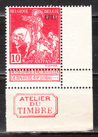 99**  Caritas Surchargé 1911 Avec Inscriptions Marginales - Bonne Valeur - MNH** - COB 45 - Vendu à 15% Du COB!!!! - 1910-1911 Caritas