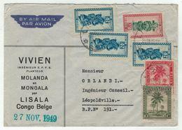 Congo Belge // Lettre Par Avion Pour Lépoldville - Congo Belge