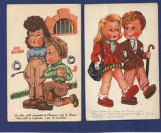 LECLERC / Lot 4 CPA Illustrées / Enfants. - Leclerc