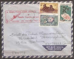 """Enveloppe Avec Cachet """" Ailes Françaises Autour Du Monde """" (bon Etat) - Luftpost"""