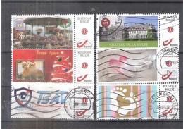 6 Duostamps - Obl/gest/used (à Voir) - Belgique