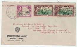 Jamaica // Lettre  Pour Lépoldville - Jamaïque (...-1961)