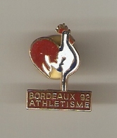 PIN'S SPORT  ATHLETISME  COQ SPORTIF FRANCAIS   BORDEAUX 1992 - Athlétisme