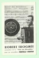 ROBERT TROGNEE - ACCORDEON - Au Dos Publicité LE MONT CENIS 62 Rue Custine PARIS - Musique & Instruments