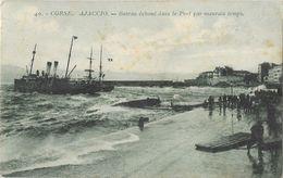 Ajaccio (Corse Du Sud) - Bateau échoué Dans Le Port Par Mauvais Temps, Sauvetage - Edition A. Tomasi - Carte N° 40 - Ajaccio