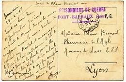 ISERE CP 1917 BARRAUX PRISONNIERS DE GUERRE FORT BARRAUX - 1877-1920: Période Semi Moderne