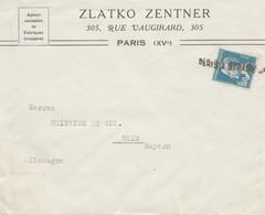 Frankreich: Brief Aus Paris Nach Selb/Bayern - Ohne Zuordnung