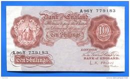Uk  10chillings  1955/60 - 1952-… : Elizabeth II