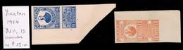 MEXICO • 1924 • Yucatan State Revenues • YU 11, 13 (2) - Messico