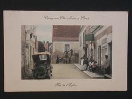 Ref5826 CPA Animée De Civray Sur Cher (Loir Et Cher) - Rue De L'église - Tabac Voiture 1913 - France
