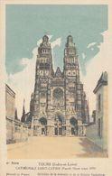Cp , CARTES , TOURS (Indre-et-Loire), CATHÉDRALE SAINT-GATIEN (Façade Ouest Avant 1870) - Autres