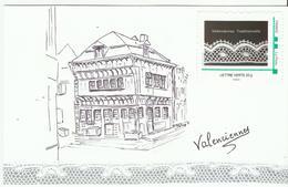 """Dentelle De Valenciennes, Mon """"timbre-à-moi"""" Sur Carte De La """"maison Espagnole"""" - France"""