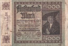 5000 MARK, Berlin 1922, Z 526755 BK - [ 3] 1918-1933 : Repubblica  Di Weimar