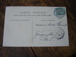 Couleur Bleue Pontailler Cad Obliteration C 2 Recette Auxiliaire Rurale Sur Lettre - 1877-1920: Période Semi Moderne
