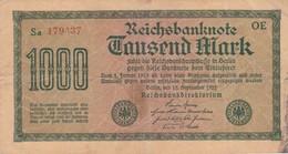 1000 MARK, Berlin 1922, Sa 179437 OE - [ 3] 1918-1933 : Weimar Republic