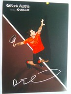 Dominic Thiem   Signed Card - Handtekening