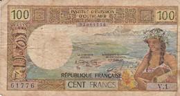 BILLET DE 100 FRANCS INSTITUT D'EMISSION D'OUTRE-MER PAPEETE - Papeete (French Polynesia 1914-1985)