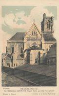 Cp , CARTES ,NEVERS (Nièvre), CATHÉDRALE SAINT-CYR (Façade Ouest, Précédée D'un Abside) - Cartes