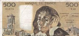 FRANCE : 500 FRANCS 05/09/1974 - 500 F 1968-1993 ''Pascal''