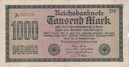 1000 MARK, Berlin 1922, Jc 225159 DV - [ 3] 1918-1933 : Repubblica  Di Weimar